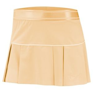 Nike Court Victory Tennis pleated Skirt in Gold